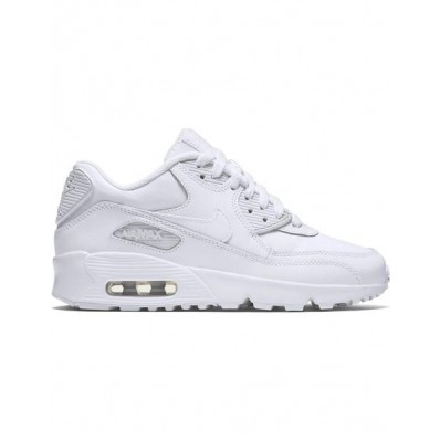 nike air max 90 leather gs blanco mujer