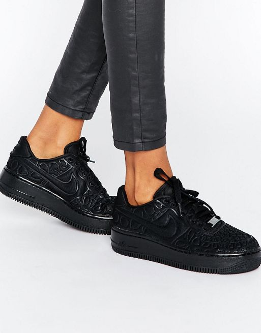zapatillas nike air force 1 mujer negras